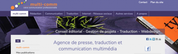 www.multi-comm, Agence de presse, traduction et communication multimédia